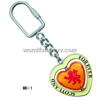 Metal Keychain Heart Shape Fashion Style Souvenir Gift