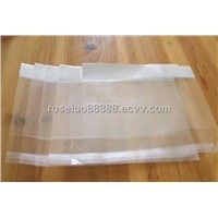 plastic header bagt with butterfly hole and full color printing