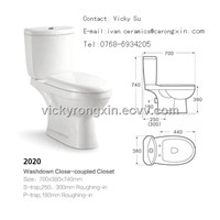 sanitary ware 2020 two-piece washdown toilet