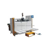 semi-auto wire stitching corrugated packing machine