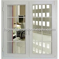 upvc casement window with grill design