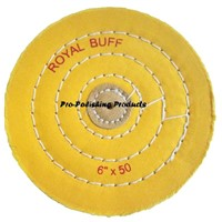 yellow muslin buffs, yellow treated buffing wheel