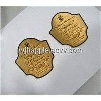 personalized zinc alloy wine labels  metal label embossed label Cognac label
