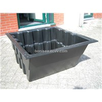 Large scale ABS thermoformed container
