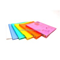 PP Color Clear File Folder - Can add and remove pockets