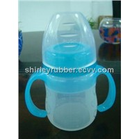 silicone feeding bottle/children bottle/baby bottle/plastic bottle
