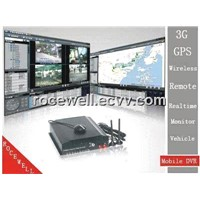3G GPS Wireless Remote 4CH Realtime Monitor Surveillance Track Car Mobile DVR (RC-8004H3C-1)