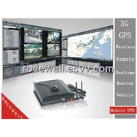 3G GPS Wireless Remote 4CH Realtime Monitor cable BOX Track Car Mobile DVR (RC-8004H3C-1)