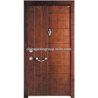 Steel Wooden Armored Security Door (TA318)
