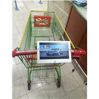 10.1'' shopping carts advertising signage player media screen with rechargeable battery