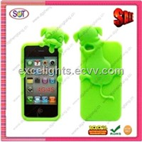 2012 animal shapes silicone phone cases for iphone