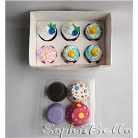 2012 most popular gift box with 400 Pcs mixed pattern cupcake liners baking cups
