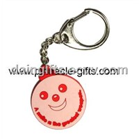 3D soft pvc smile key chain