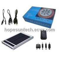 3.7v-9v solar charger for hiking and camping