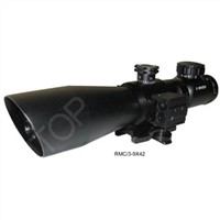 3-9X42 Best Seller Tactical Red&Green Illuminated Sniper Scope with Laser Sight