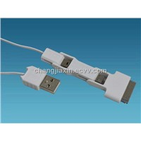 3 in 1 For Apple Retractable Mini Micro Charger Data USB Cable