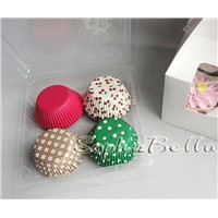 400 Pcs cupcake liners baking cups mixed patterns gift box with FDA