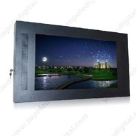 42'' wall-mounted CF card USB lcd advertising vidoe frame for shopping mall,LG screen
