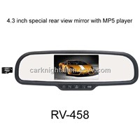 4.3 inch car rear view mirror monitor for special type