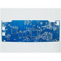 4-layered PCB Board with HALL Lead free Surface Finish and FR-4 Base Material