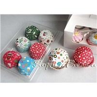 600 Pcs cupcake liners baking cups mixed patterns gift box on promotion