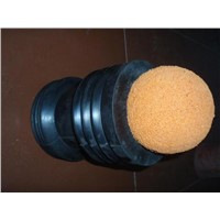 "6"" inch pipe cleaning sponge ball"
