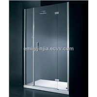 6mm tempered transparent glass shower door MJY-JY-44