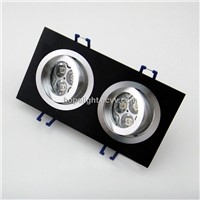 6x1w LED Recessed Light