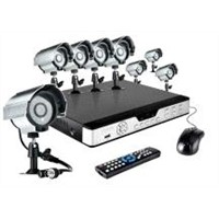 8CH H.264 DVR & 8 CMOS 480TVL 30ft Night Vision Outdoor Security Cameras