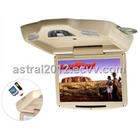 AST-1218D 12inch flip down monitor with dvd usb sd ir fm games