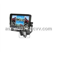 AST-737 7 inches Digital Screen TFT LCD Color Quad Monitor