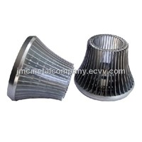 Aluminum Sheet Stamping Parts / LED Lamp Radiator & Housing