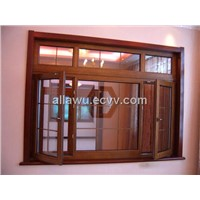 Aluminum-wooden doors and windows