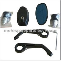 CNC Motorcycle Bar End Mirrors, Made of Aluminum Alloy 6061
