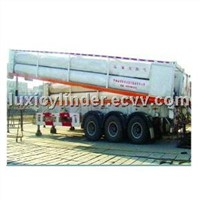 CNG cascade container for gas storage and transportation