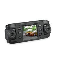 Car DVR GPS,Car Black Box with Dual Camera Wide Angle with GPS,Dual Lens of 140 Degree A+Wide Angle