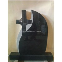 Cheap black headstone