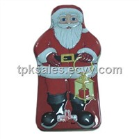 Christmas Santa Tin Box