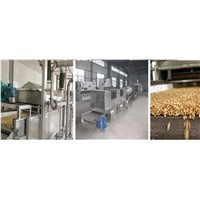 Continuous automatic peanuts frying machine