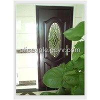 Decorative glass steel doors with competitive price