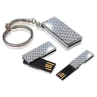 Diamond Mini Promotional USB Flash with Free Round Key Chain