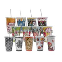 Double Wall Acrylic Tumbler (With Straws)