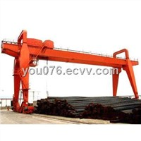 Double-beam Gantry Crane with Hook and 80/20T Lifting Capacity