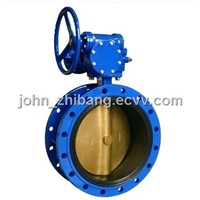 Double flange center line butterfly valve