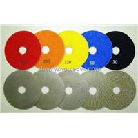 Electroplated Diamond Wet Polishing Pads For Glass Polishing