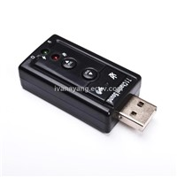 External 3D USB 2.0 Virtual 7.1 Channel Audio Sound Card Adapter