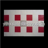 Fashional PVC Ceiling Tiles White and Red Color