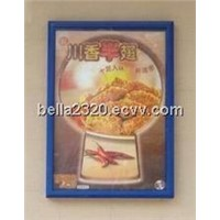 Fast food restaurant crystalline light box