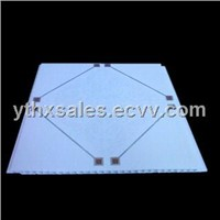Fireproof 30cm wide Bathroom Kitchen  PVC Ceiling Tiles With beautiful Hot Stamping pringtings