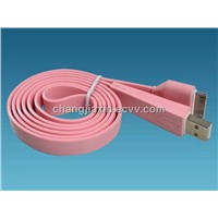 Flat USB AM to Apple data cable for Iphone or ipad